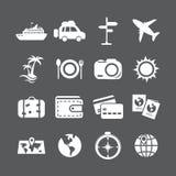 Urlopowy ikona set, wektor eps10 Fotografia Stock
