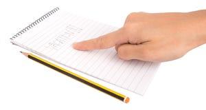 Urlopowy słowo Na Notepad III Obraz Stock