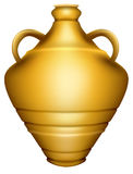 Urn. Editable  illustration of a golden urn made with gradient meshes Royalty Free Stock Images