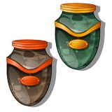 Urn for ashes. Vector illustration isolated Stock Image