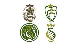 Urn Ewer Store Set. Vector Royalty Free Stock Photography