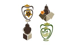 Urn Ewer Store Set. Vector Royalty Free Stock Images
