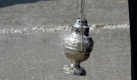 Urn to burn incense Royalty Free Stock Photo