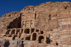 Urn tomb - one of Royal tombs. Petra, Jordan. Stock Image