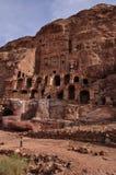 Urn tomb in Petra. Royal Tombs in Petra, Jordan Royalty Free Stock Photos