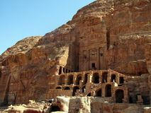 Urn Tomb Royal Tombs Petra Jordan. This is called the Urn Tomb and dates back Nabatean era these mystic burials or the then royalty were cut in rocks Stock Image