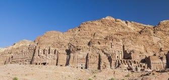 Urn Tomb, Silk Tomb and Royal tombs. Petra. Jordan. Royalty Free Stock Photography