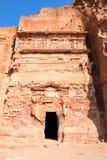 Urn Tomb in Wadi al-Farasa valley, Petra Stock Photos