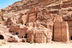 Urn tombs. Petra,  Jordan. Royalty Free Stock Image