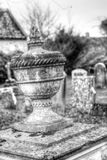 Urn Vase In Old Cemetery HDR Royalty Free Stock Image