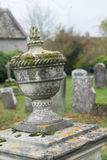 Urn Vase In Old Cemetery Stock Image