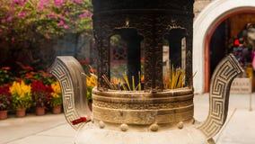 Urna cinese di incenso Fotografia Stock