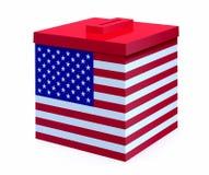 Urna con la bandera americana Imagenes de archivo