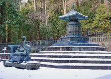 Urna de bronce en la capilla de Nikko Toshogu imagen de archivo libre de regalías