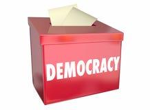 Urna de voto bem escolhida do voto da liberdade da democracia ilustração stock