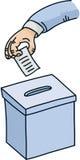 Urna de voto dos desenhos animados Imagens de Stock