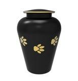Urna di cremazione per gli animali domestici Immagine Stock Libera da Diritti