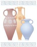 Urnas griegas stock de ilustración