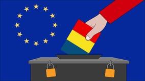 Urne de la Roumanie pour les élections européennes illustration libre de droits