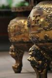 Urne della cenere di incenso Fotografie Stock