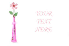 urne optimiste de fleur très en bois Image libre de droits