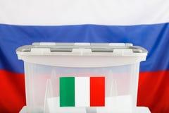 Urne pour le résident italien de citoyens à l'étranger photographie stock libre de droits