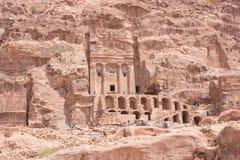 Urnegrabstandort Petra Aqba Jordan lizenzfreie stockfotos