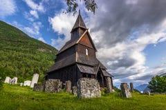 Urnes, η παλαιότερη εκκλησία σανίδων, Νορβηγία Στοκ Εικόνα