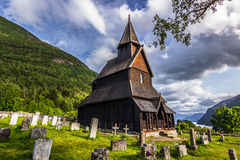 Urnes ударяет церковь, Норвегию стоковое фото