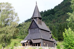 Urnes Daube-Wikinger-Kirche Lizenzfreie Stockfotografie