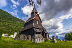 Urnes, The oldest Stave church, Norway Stock Image