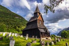 Urnes Stave Church, Noorwegen stock foto