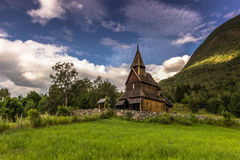 Urnes Stave Church in the wilderness, Norway Stock Photos