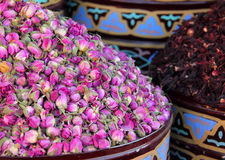 Urns Of Dried Roses. Marrakesh, Morocco. Royalty Free Stock Photos