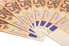 Uro pengarsedlar euro 50 Royaltyfri Bild