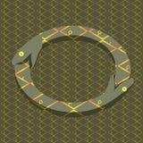 Uroboros de la serpiente del vector stock de ilustración