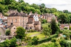 Urocza Angielska wioska wzdłuż Rzecznego Severn zdjęcie stock