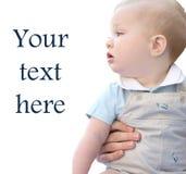 urocza dziecka błękitny chłopiec przyglądająca się mama obraz royalty free