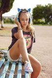 urocza dziewczyna nastoletnia obrazy stock