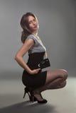 Urocza dziewczyna w studiu Zdjęcia Stock