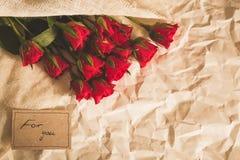 Urocza i romantyczna niespodzianka fotografia stock