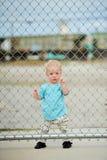Urocza jeden roczniak chłopiec Zdjęcie Stock