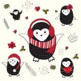 Urocza kartka bożonarodzeniowa Zdjęcia Stock