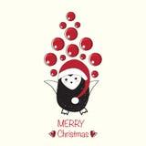 Urocza kartka bożonarodzeniowa Obrazy Stock