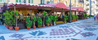 Urocza kawiarnia w Kijów Obrazy Royalty Free