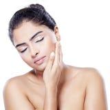 Urocza kobieta z naturalną skórą Obraz Royalty Free