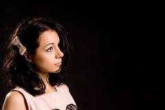 Urocza młoda kobieta w profilu Obraz Stock