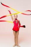Urocza mała gimnastyczka obrazy royalty free