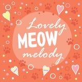 Urocza meow melodia Zdjęcie Royalty Free