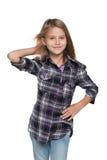 Urocza mody młoda dziewczyna obraz royalty free
